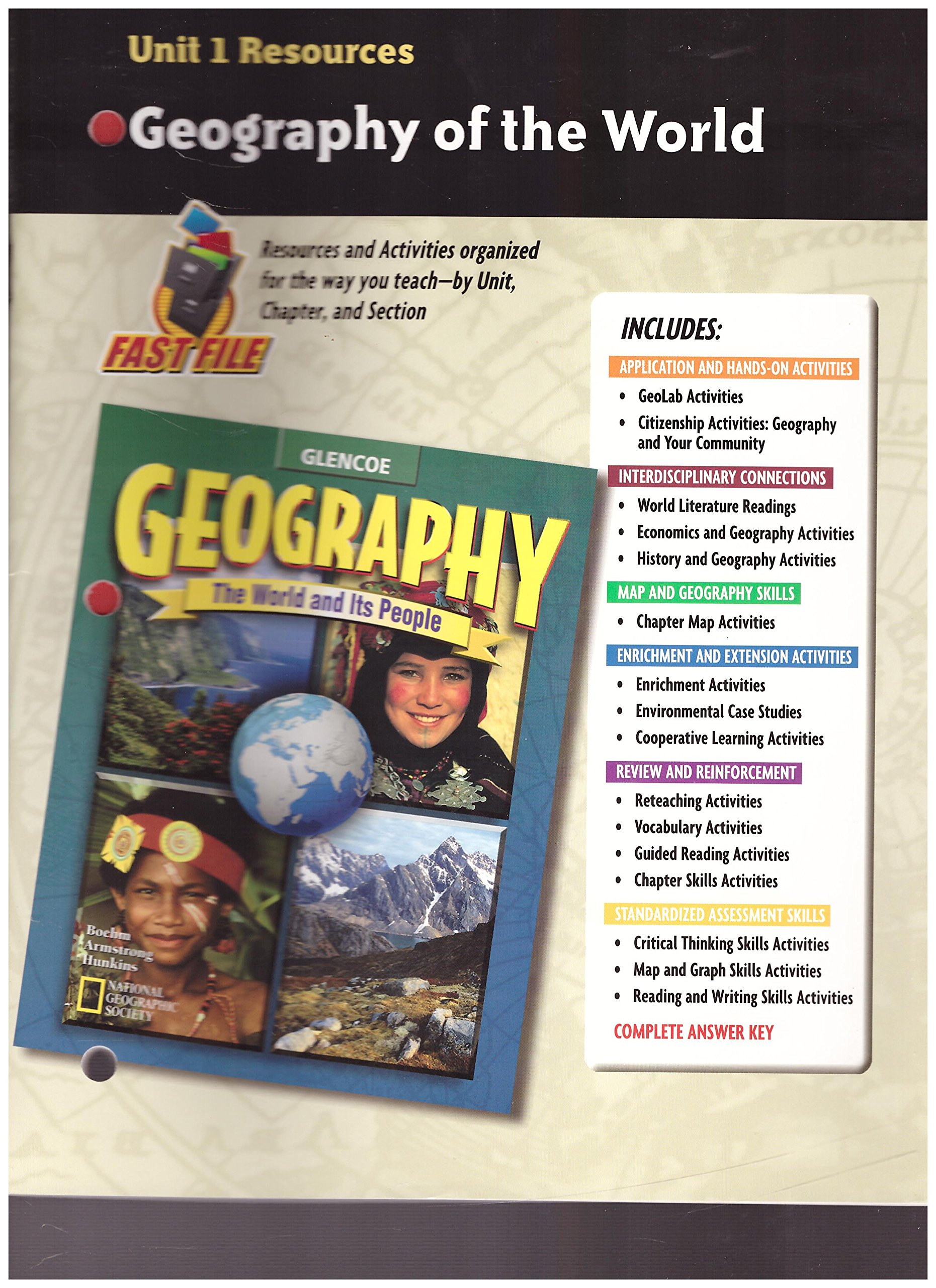 Geography: The World and Its People, Unit 1 Resources