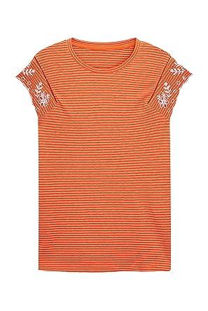 Next Orange uk Mit 20 Lochstickerei T 48 Damen Ärmel Eu Am Shirt STwrSqB