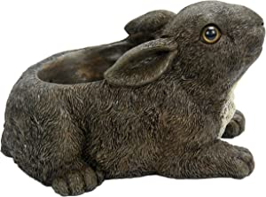 Michael Carr Designs Rabbit Planter Outdoor Rabbit Planter Figurine for Gardens, patios and lawns (80082)