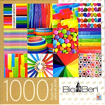 Big Ben - Colorful Collage - 1000 Piece Jigsaw Puzzle: Toys & Games