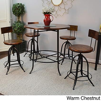 Cool Amazon Com Carolina Chair And Table Adjustable Round Wood Machost Co Dining Chair Design Ideas Machostcouk