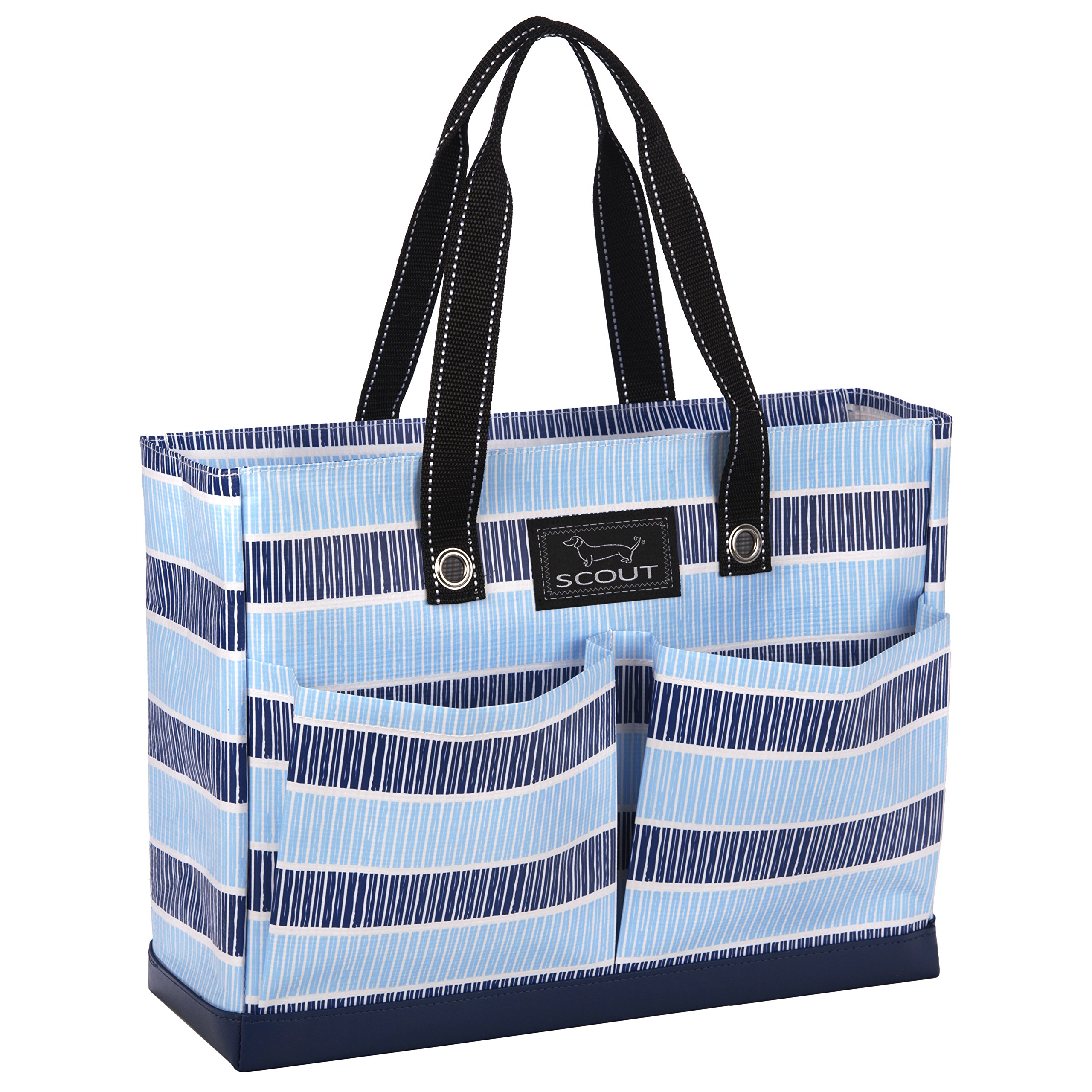 SCOUT Uptown Girl Medium Multi-Pocket Tote Bag, Water Resistant, Zips Closed, Deep End