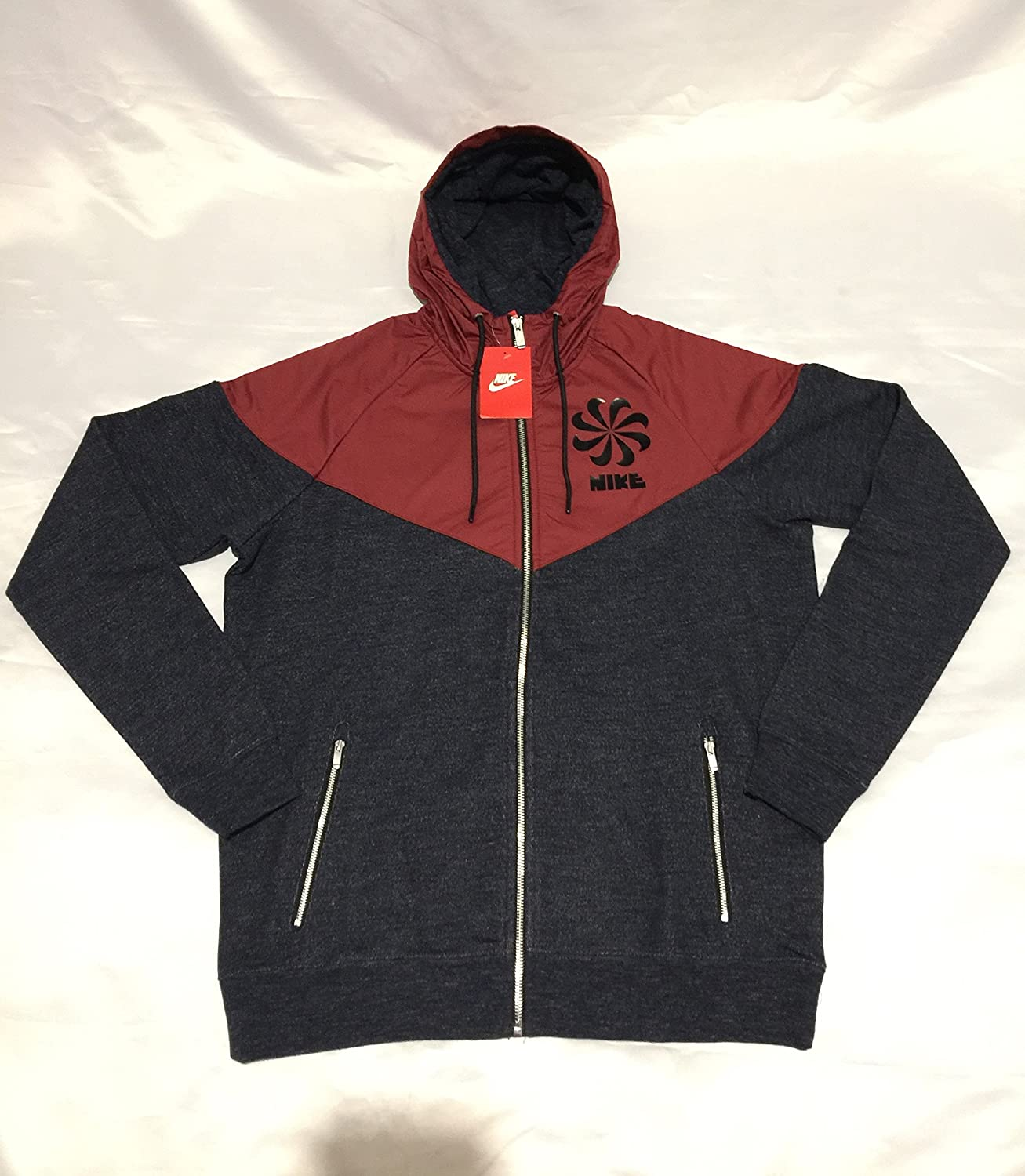 768736e64ccd Nike Legacy Windrunner Men s Hooded Jacket RED Blue Hoodie TOP 869202-473  (X-Large)  Amazon.co.uk  Clothing