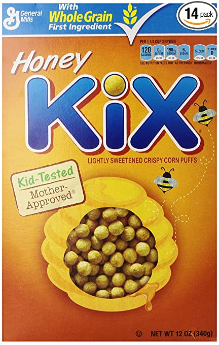 Kix Honey Cereal, 12-Ounce Boxes (Pack of 14)