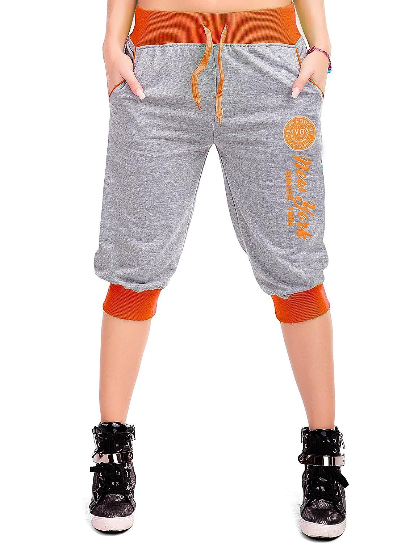 24brands - Pantalon court Capri Shorts bermuda pantalon sportif temps libre training 5 couleurs - Femmes
