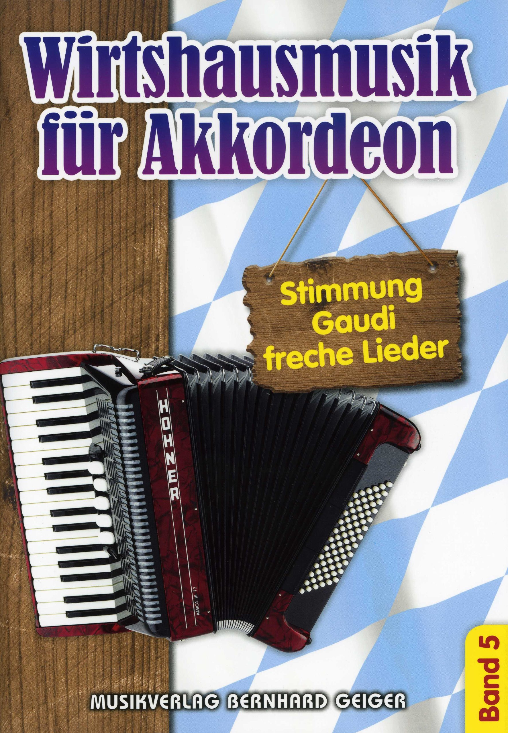 Band 5 Musiknoten Wirtshausmusik für Akkordeon