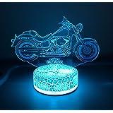 Harley Davidson Motorcycle Lamp Night Light Gifts 3D 7 Color LED