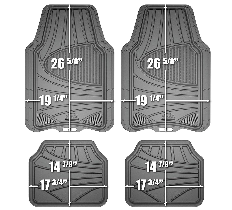Floor mats super cheap - Armor All 78841 4 Piece Grey All Season Rubber Floor Mat