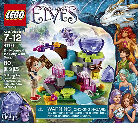 Amazon.com: LEGO Elves Emily Jones & the Baby Wind Dragon 41171 ...