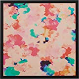"""Amazon Brand – Rivet Spring Pink Floral Print in a Black Wood Frame Wall Art, 20"""" x 20"""""""