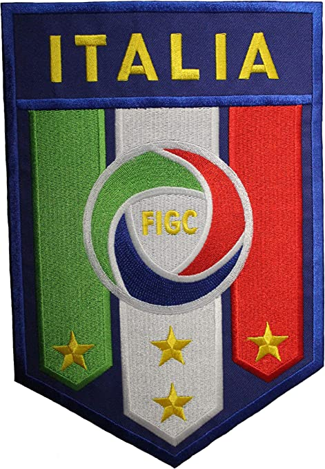ITALIA ITALY 4 STARS COUNTRY FLAG IRON-ON PATCH CREST BADGE 1 1//2 X 2 1//4 INCHES