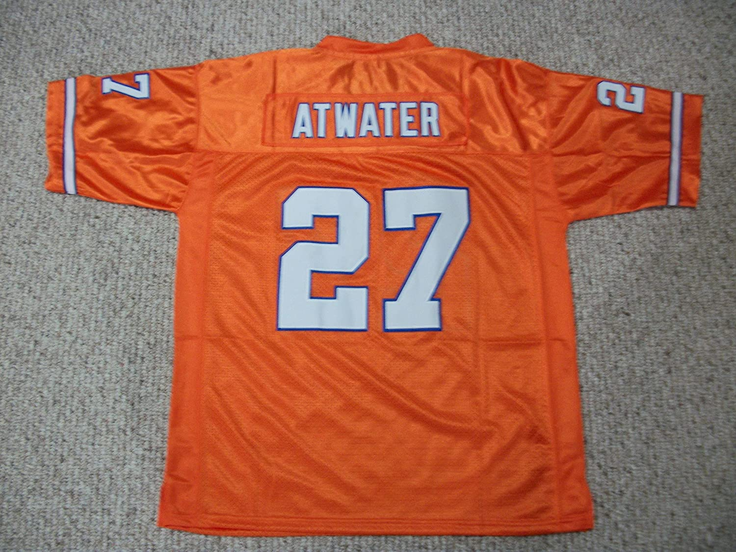 Unsigned Steve Atwater #27 Denver Custom Stitched Orange Football Jersey Various Sizes New No Brands/Logos