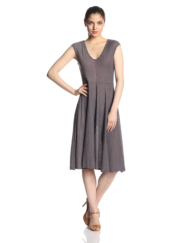 Three Dots Womens Cap Sleeve with Chevron Dress