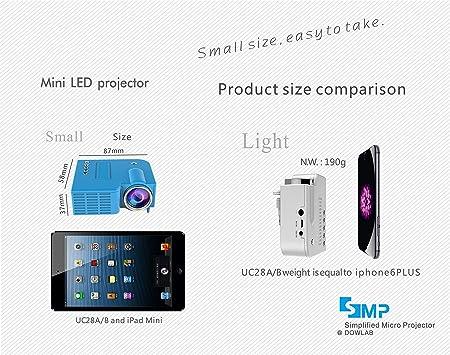 shengshiyujia UC28A Mini proyector portátil del teléfono casero ...
