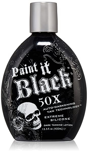 Millenium Tanning New Paint It Black Auto-darkening Dark Tanning Lotion, 50X, 13.5 Ounce