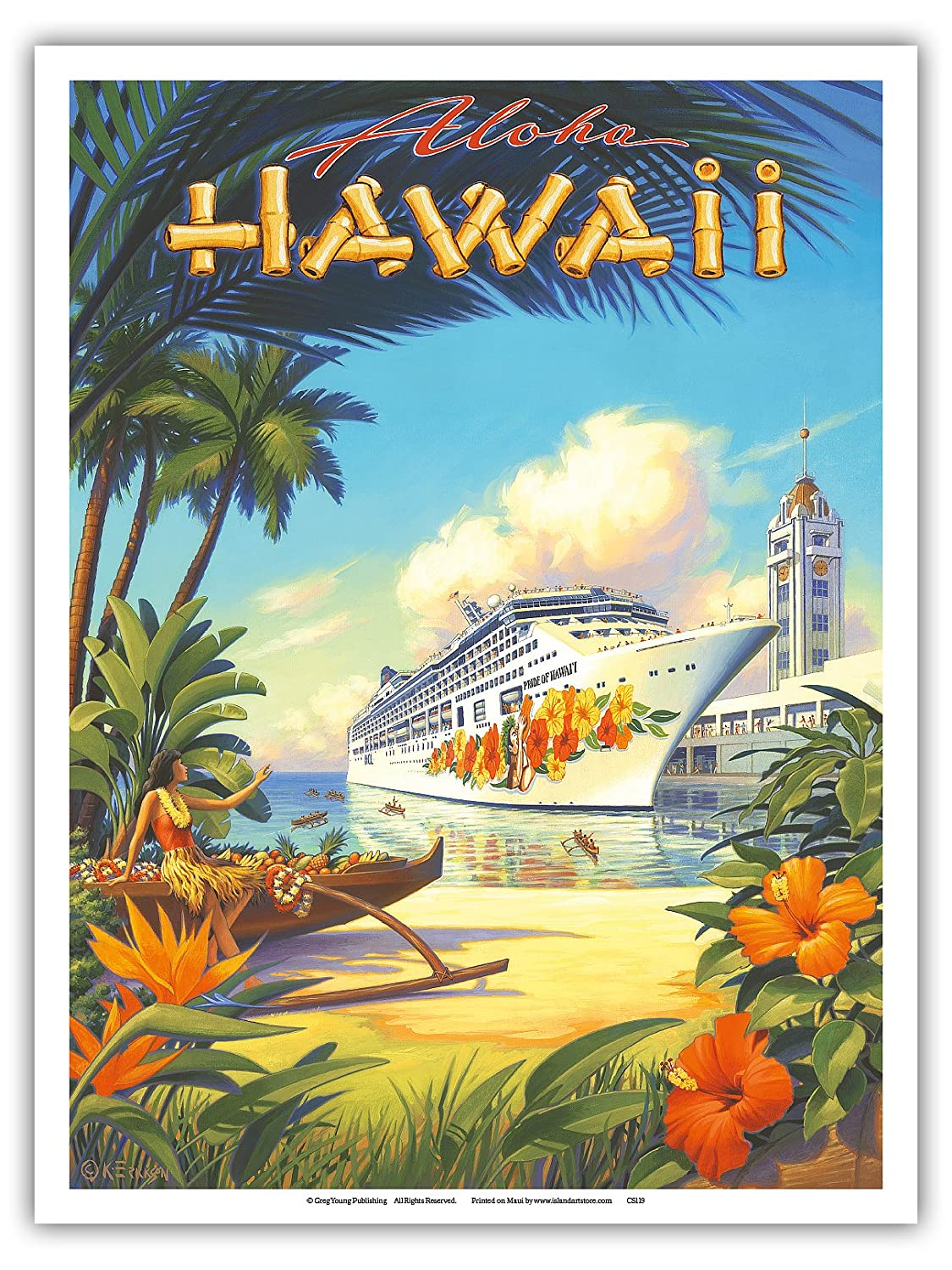 Amazon.com: Pacifica Island Art Pride of Hawaii Cruise Ship - Aloha ...