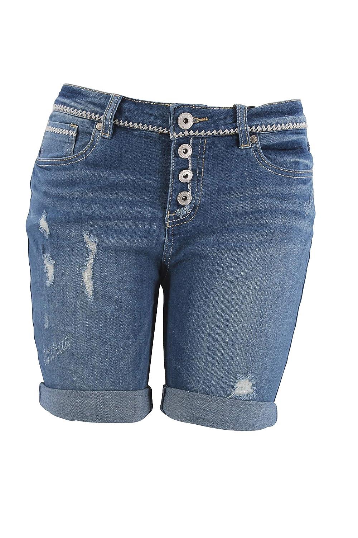 Eight2Nine Women's Slim Shorts Blue Blue: Amazon.co.uk: Clothing