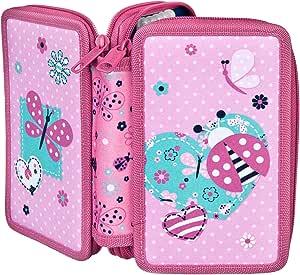 Estuche escolar doble con relleno de la marca Stabilo Ladybug: Amazon.es: Juguetes y juegos