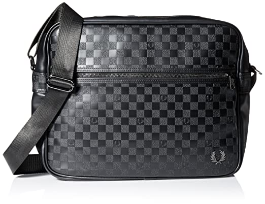 Damiers Fred Sac Noir Perry Besace Pu Pour Homme Tu EH29DI