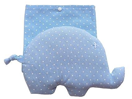 CARREDANA Sacos térmico de Semillas de Trigo y Semillas de Lavanda con Forma de Elefante (
