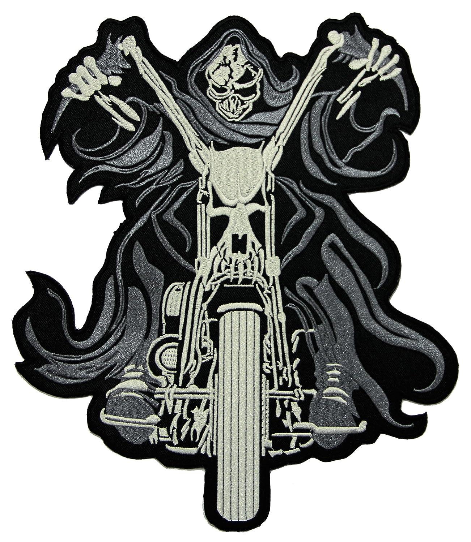 Ghostrider Backpatch Rü ckenaufnä her Biker Weste 21, 5 x 25, 5 cm Bestellmich.com