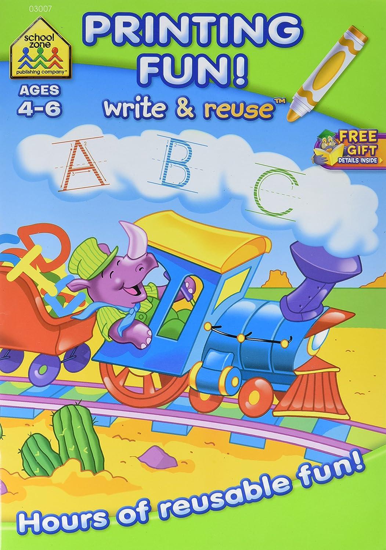 Write /& Reuse Workbook-Printing Fun Ages 4-6