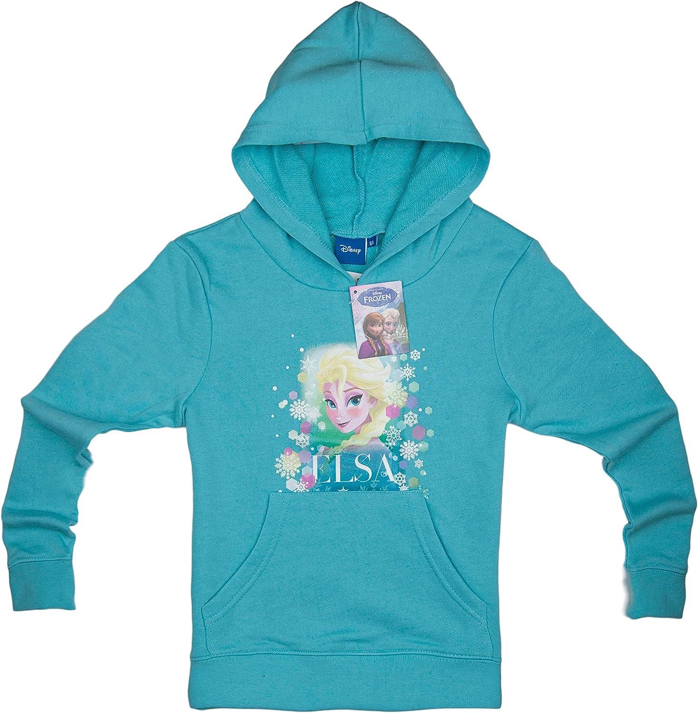 Disney Official Frozen Elsa Childrens Hoodie Hoody Jumper Sweatshirt for Girls 4 5 6 8 Years Main Picture to Illustrate
