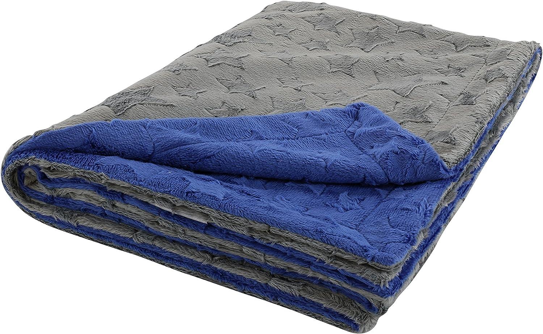 baby boy pushchair blanket dark blue stars Baby blanket with name cuddly rug tractor