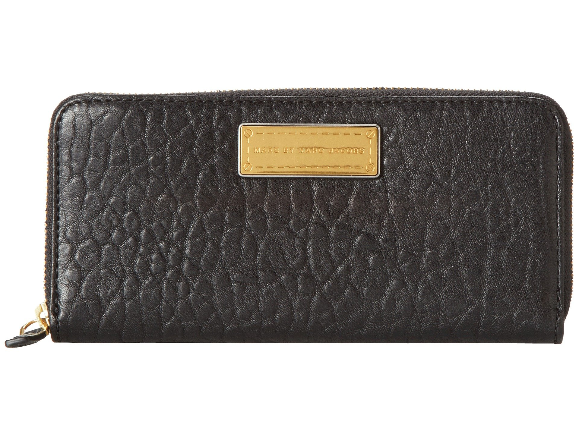 Marc by Marc Jacobs Washed Up Slim Zip Around Checkbook Wallet Black One Size
