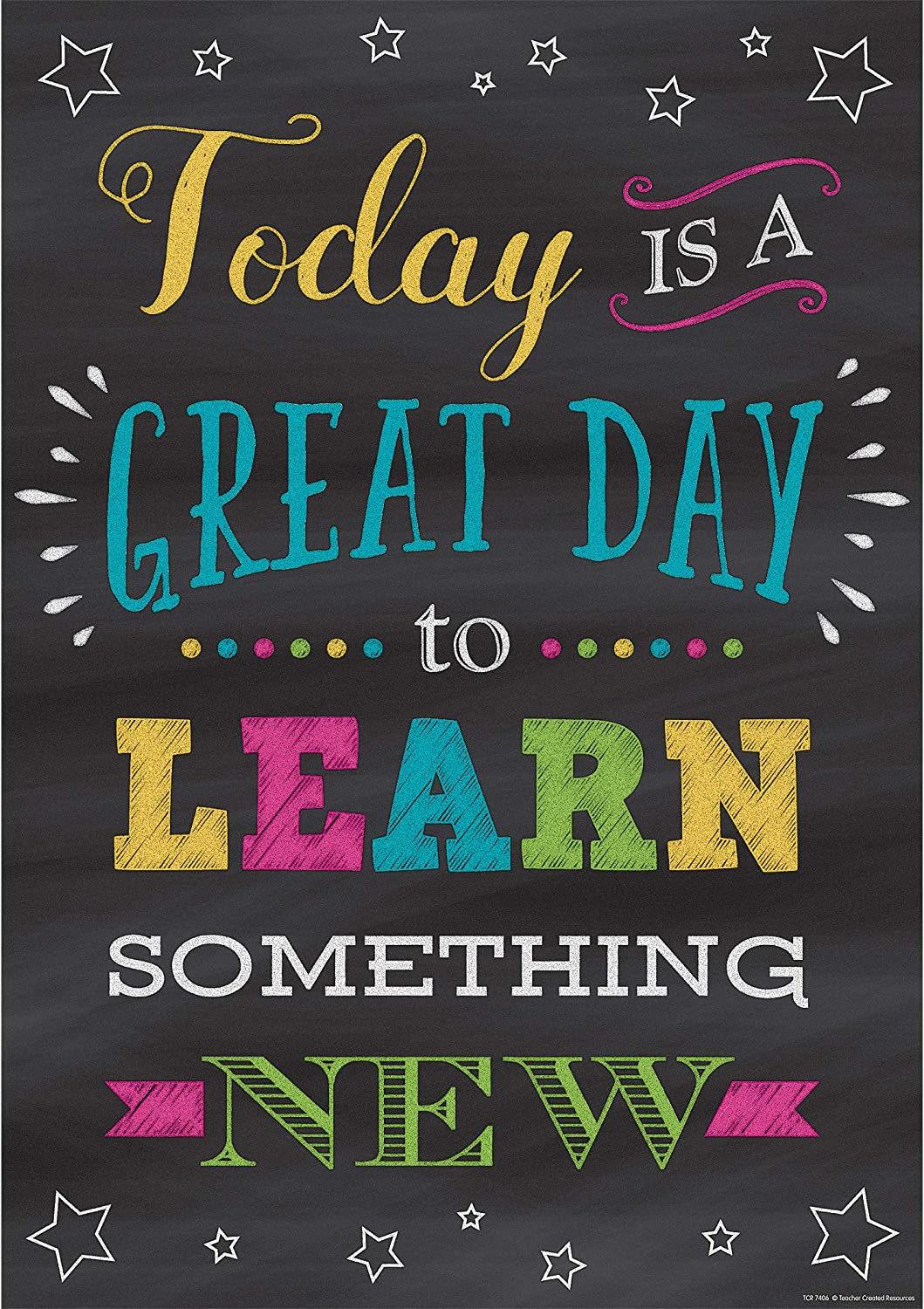 Amazon.com : Today is a Great Day to Learn Something New Positive Poster :  Office Products