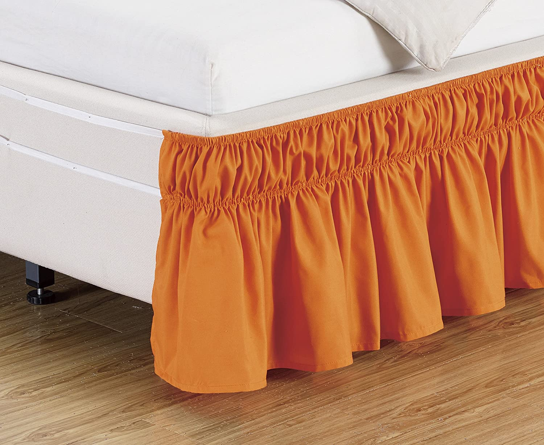 Amazon Com Wrap Around 15 Inch Fall Coral Orange Ruffled Elastic