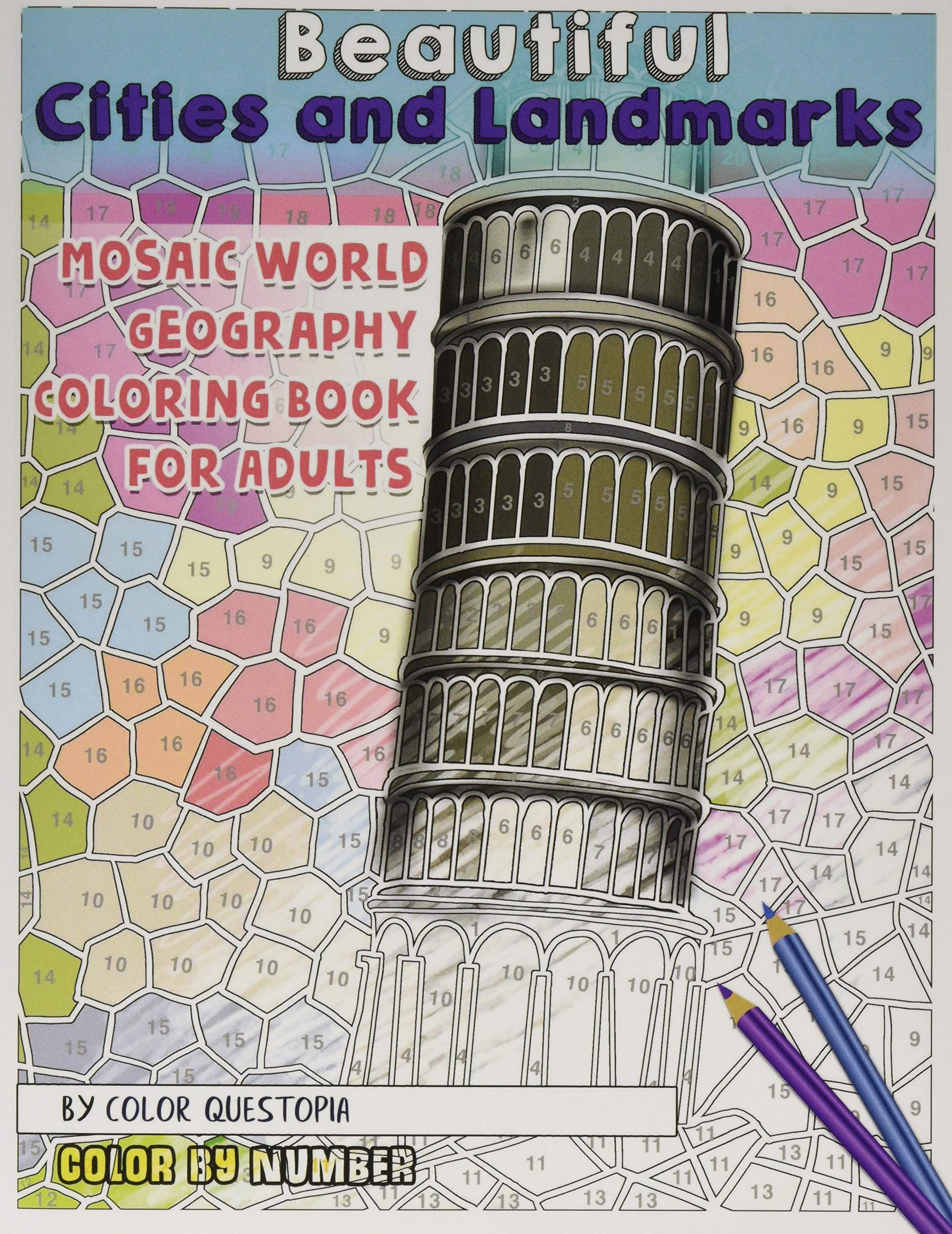 Beautiful Cities And Landmarks Color By Number Mosaic World