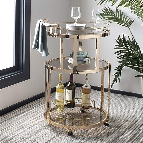 Safavieh Rio Bar Cart, Gold Tea