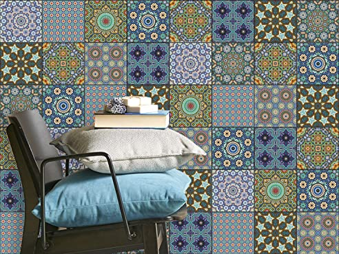 Fliesen-Mosaik Klebe-Folie | Aufkleber zum Fliesen überkleben ...