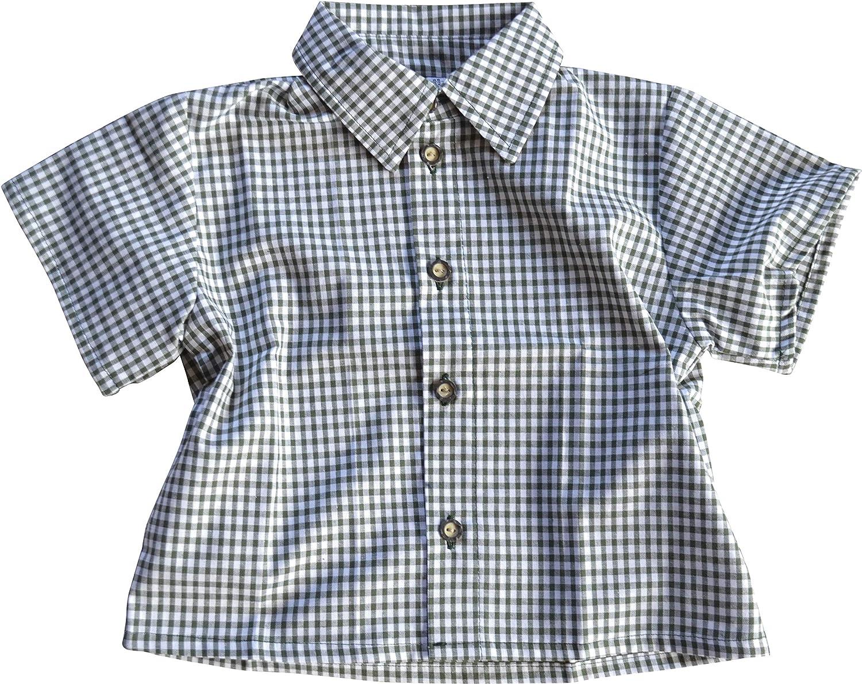 Niños Traje Camisa Milan cuadros manga corta algodón): Amazon.es: Ropa y accesorios