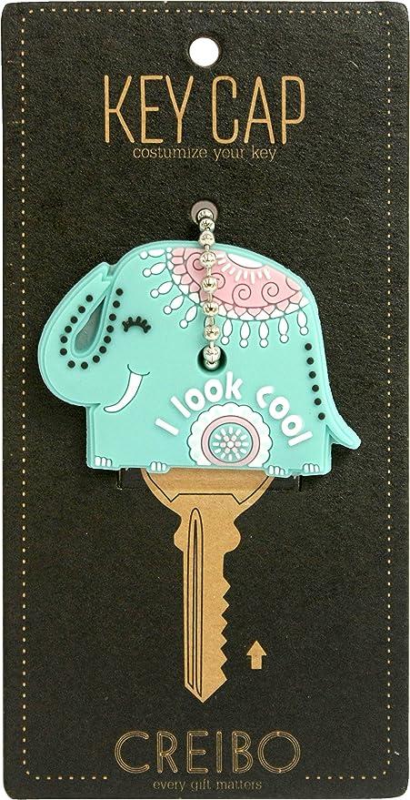Creibo KCAP004 - Llavero funda de llave Elefante