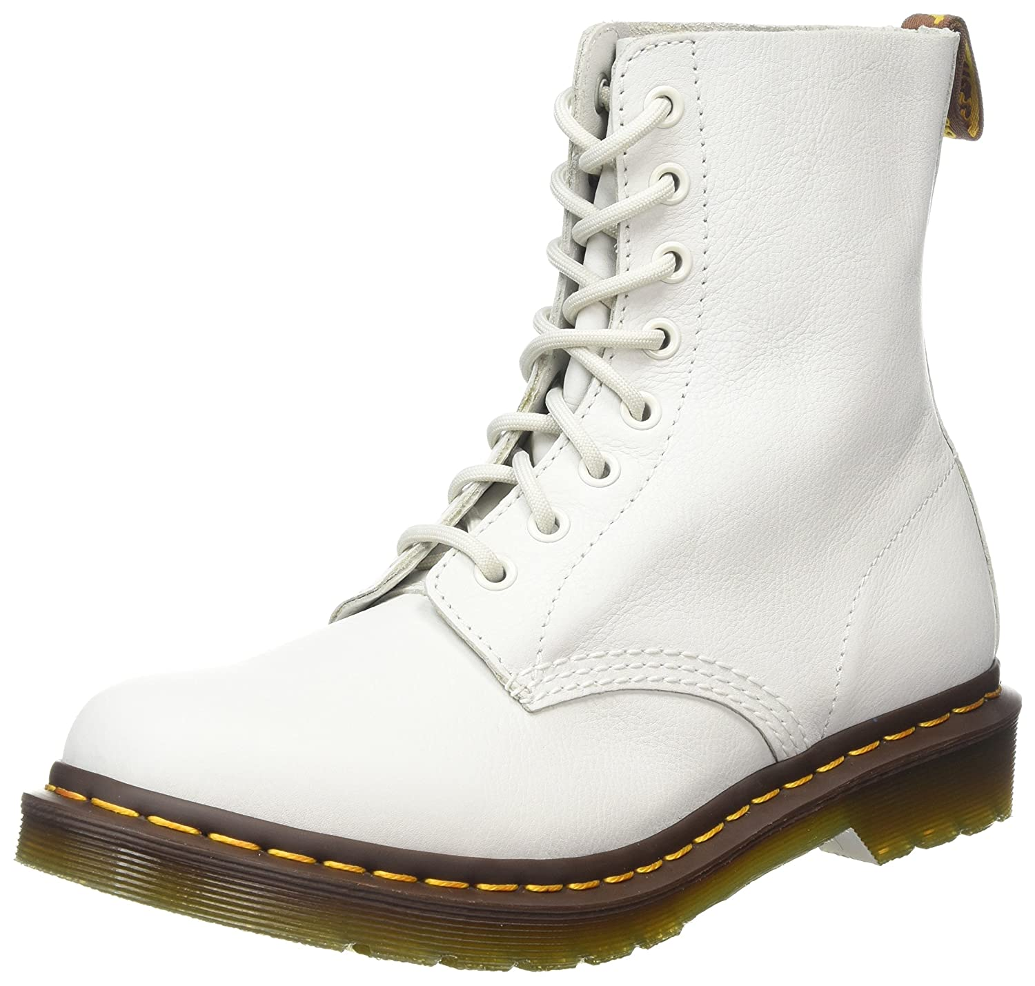 Dr. Martens Women's Pascal Leather Combat Boot B01AMQ51GE 8 UK/10 B US|White