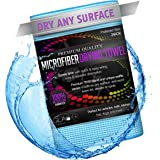 Microfiber Drying Towel Will Quickly and Safely Dry Your Car or Any Surface, Large Blue 36x24