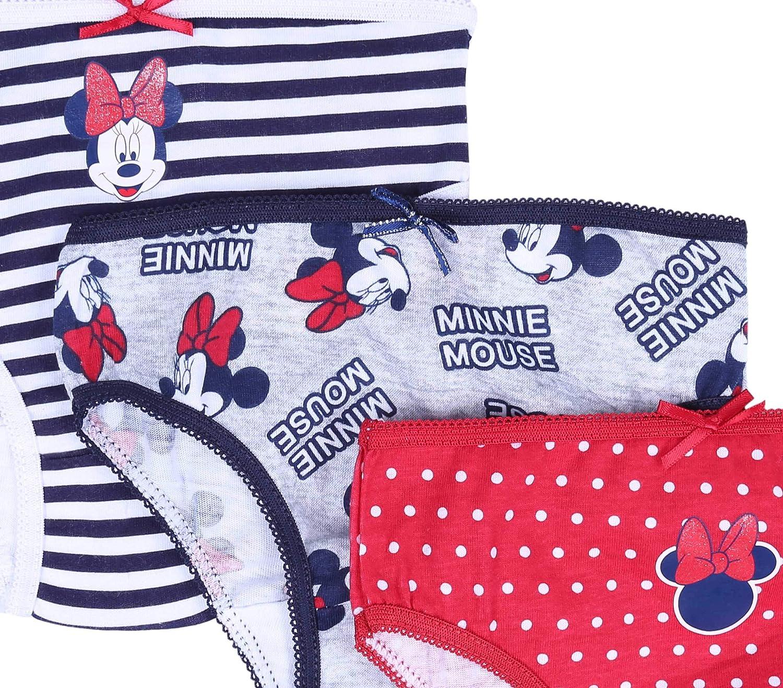 5X Culottes Minnie Disney Bleu Marine//Gris
