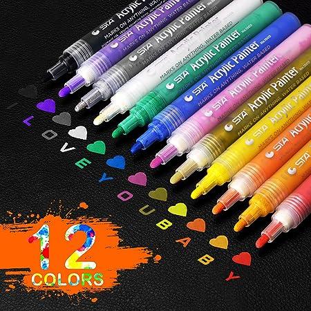 Premium Acrylstifte Marker Stifte für Steine 20 Farben Marker Paint Pen Neu Hot