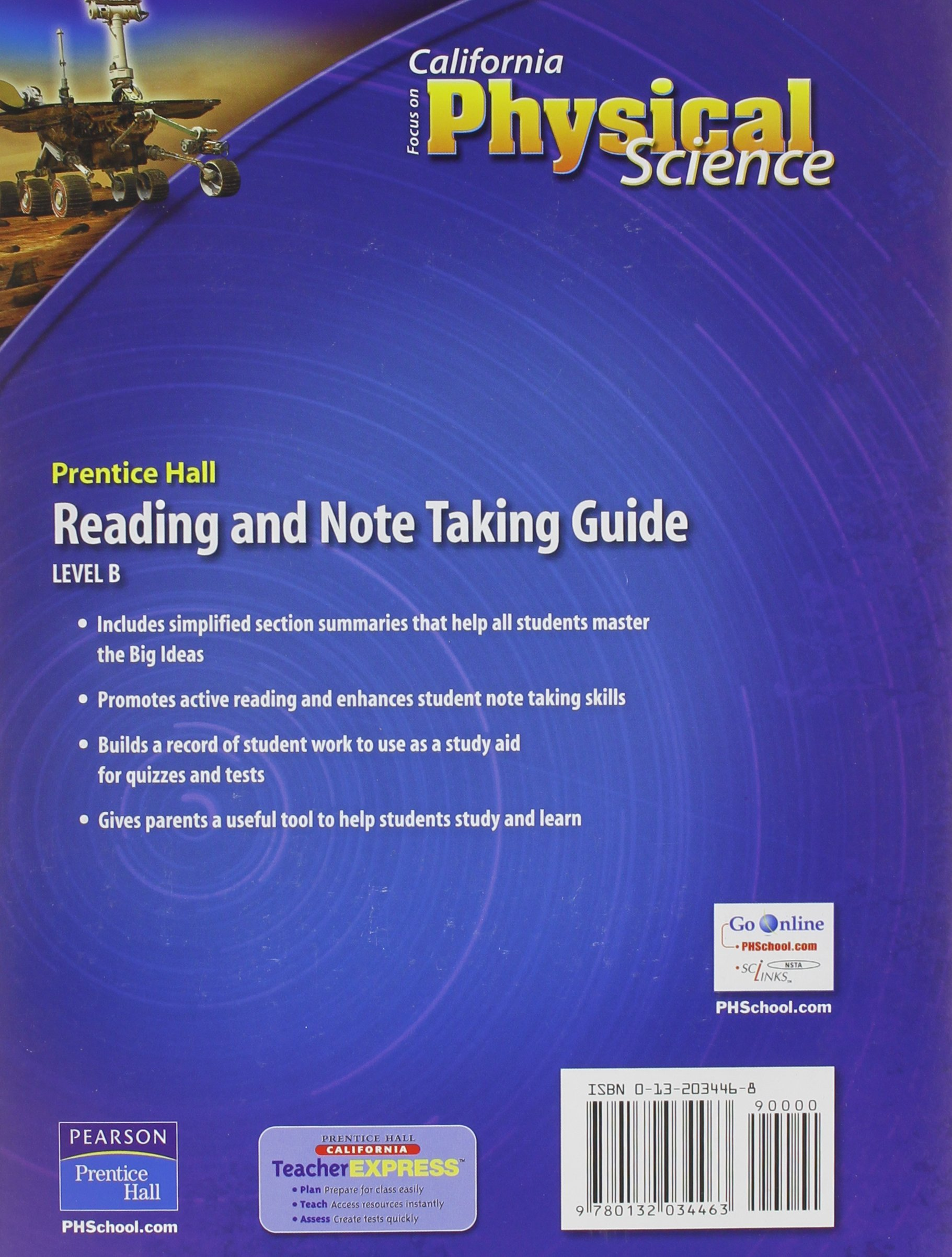 Focus on Physical Science California Edition: Reading and Note Taking Guide  Level B: not-available: 9780132034463: Amazon.com: Books