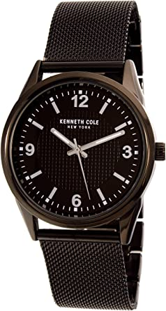 679eb8f10a3 Image Unavailable. Image not available for. Color  Kenneth Cole New York Black  Stainless Steel Mens Watch 10030782