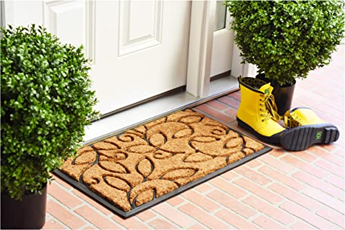 Home More 10013 Vine Leaves Coir and Rubber Heavy-duty 18 X 30 Doormat
