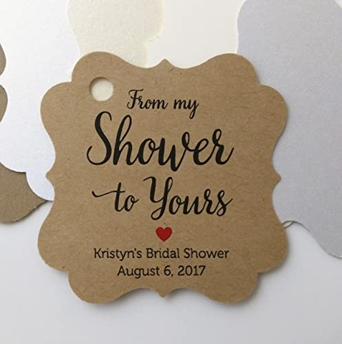 from my shower to yours favor tags from my shower to yours bridal