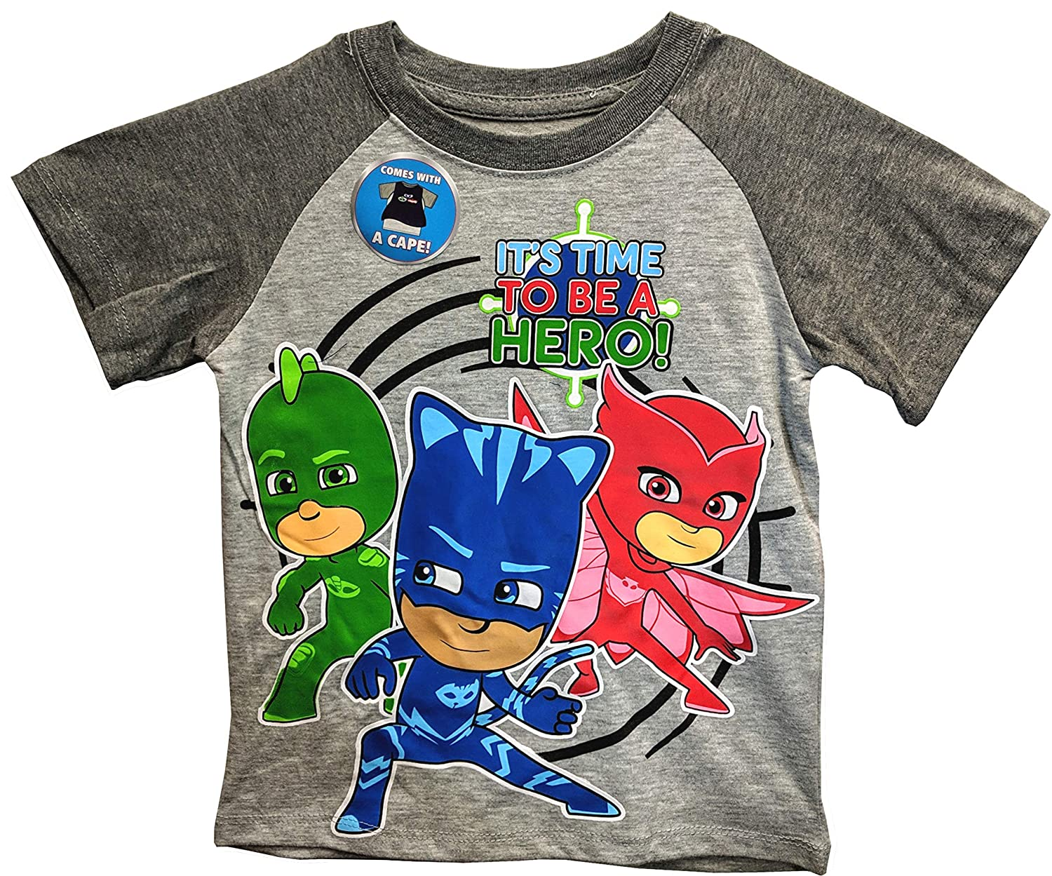 aa20fd50 Amazon.com: PJ Masks Toddler Shirt with a Cape for Boys: Clothing