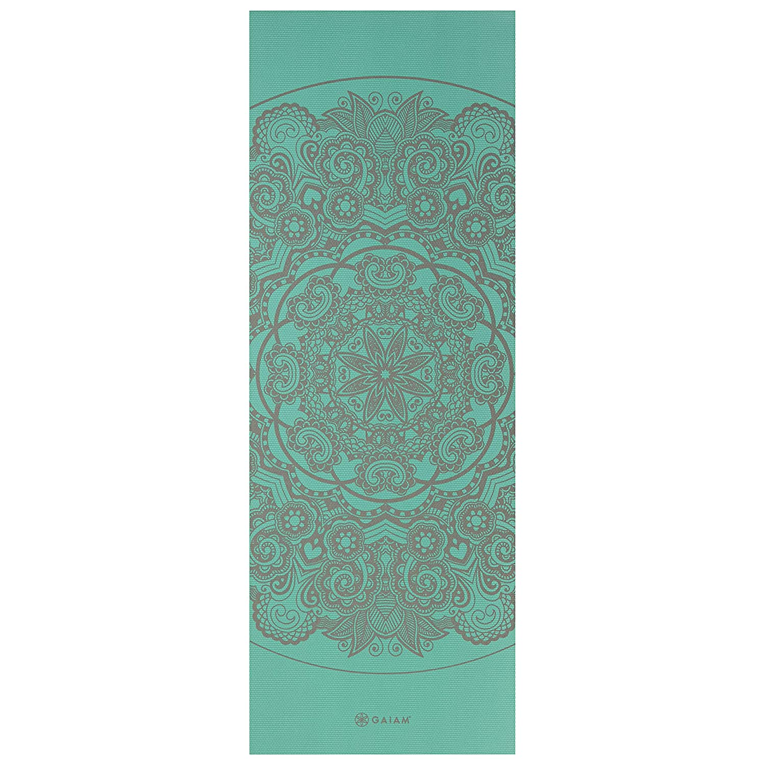 Premium 6mm Print Extra Thick Exercise /& Fitness Mat for All Types of Yoga Pilates /& Floor Exercises Medallion Sea Fit For Life 05-63136 68 x 24 x 6mm Thick Gaiam Yoga Mat