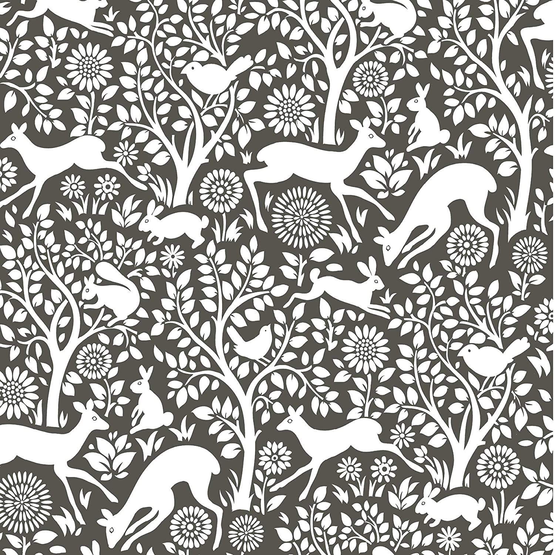 NuWallpaper NUS3146 Charcoal Merriment Peel & Stick Wallpaper, Grey