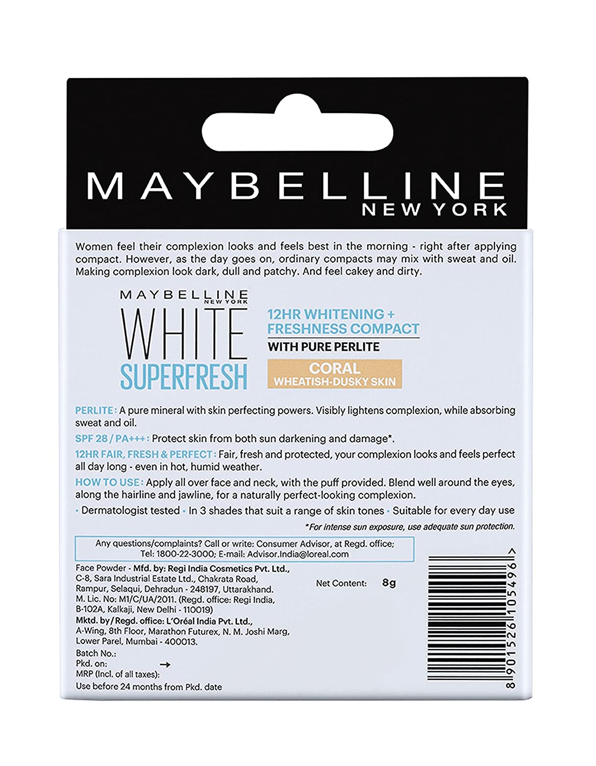 Buy Maybelline New York White Super Fresh Compact Coral 8g Online Two Cake Bedak 2 Pcs At Low Prices In India