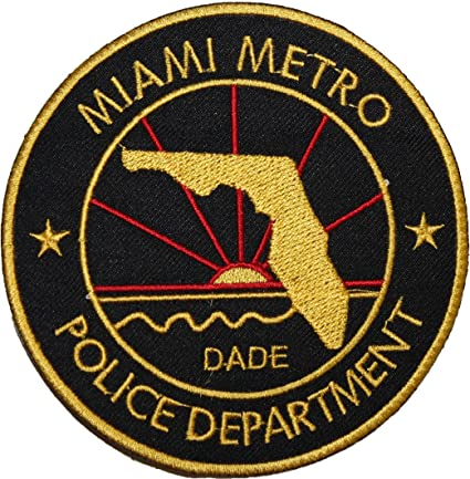 Dexter Miami Metro Police Department Black Embroidered Badge Patch