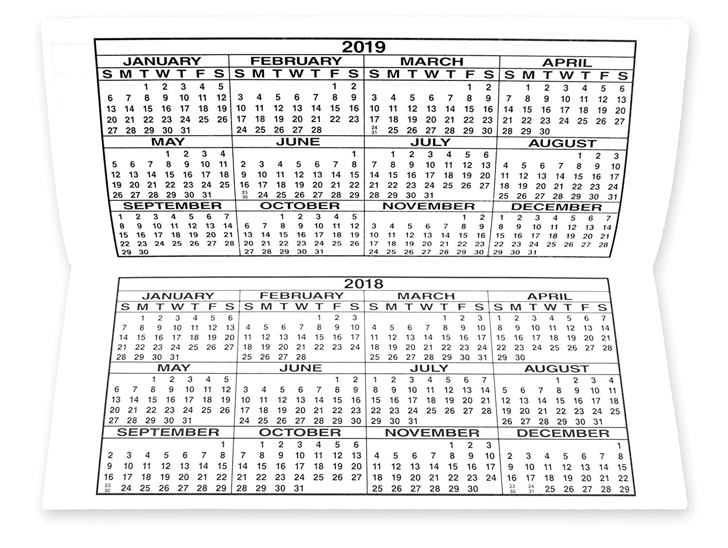 large print check register 2017 2018 2019 calendars 10 registers